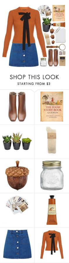 """""""Hundred Acre Woods"""" by lover-of-pie ❤ liked on Polyvore featuring The French Bee, Crate and Barrel, Chronicle Books, Crabtree & Evelyn, Miss Selfridge, Rochas and Jayson Home"""