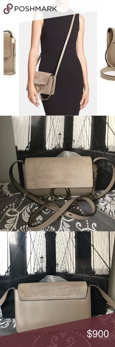 "Small Faye Leather Shoulder Bag CHLOÉ SIZE INFO 9 ¼""W x 6""H x 3 ¼""D.  20"" - 22 ½"" convertible strap drop. 1.4 lbs. Chloe Bags Crossbody Bags"
