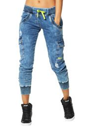 Get Faded Denim Dance Pants | Zumba Wear