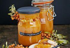 Tyrni-porkkana-aprikoosisose My Jam, Hot Sauce Bottles, Preserves, Sweets, Cookies, Canning, Food, Sauces, Drink