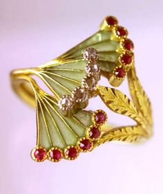 Ring - French gold, rubies and diamonds by Georges Fouquet (c.1900)