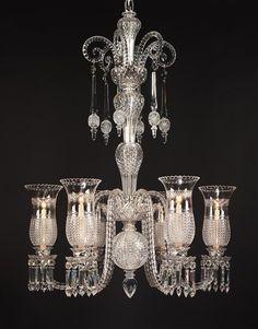 Stunning Victorian Crystal Chandelier - Prisms! Love it!