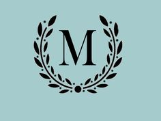 STENCIL Custom Your Initial Monogram Wreath   10x8. $12.00, via Etsy.    front door...but with a P