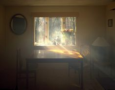 Visible Light: Artist Alexander Harding Reveals Dense Rays of Sunlight Pouring through Windows  http://www.thisiscolossal.com/2014/10/visible-light-alexander-harding/