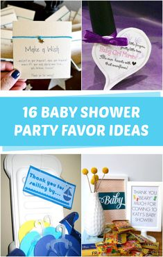 16 DIY Baby Shower Favors - C.R.A.F.T. Homemade Baby Shower Favors, Cheap Baby Shower Favors, Baby Shower Crafts, Diy Baby Shower Decorations, Baby Shower Party Favors, Shower Centerpieces, Simple Baby Shower, Baby Boy Shower, Do It Yourself Baby