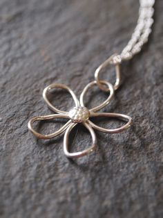 flower necklace  sterling silver necklace pendant by ARCJewellery, £26.00
