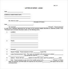 National Letter Of IntentLetter Of Intent Template India  Free