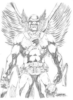 Hawkman by JeanSinclairArts
