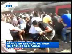 Galdino Saquarema Noticia: PÂNICO EM SP Trem da CPTM pega fogo no ABC
