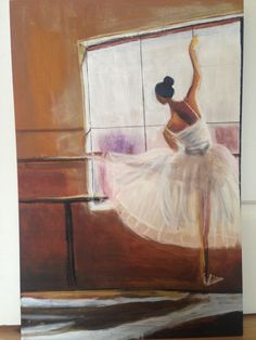 Ballerina (acrylic and pastel on MDF board), Charmaine Lim