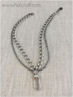 Diy lava diffuser necklaces using bead gallery beads the crystal chain choker is a combination of the hottest trends in jewelry learn how to make one for yourself or a friend in under 30 minutes solutioingenieria Images