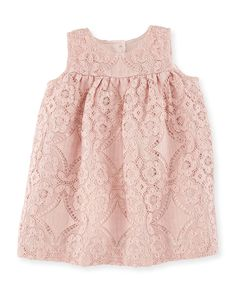 Karine Sleeveless Lace A-line Dress, Thistle Pink, Size 6M-3, Girl's, Size: 18 Months - Burberry