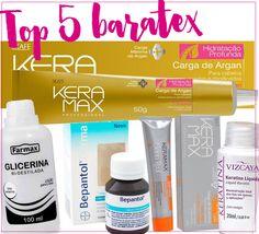 #DesafioDoCabelo: top 5 produtos baratinhos para recuperar o cabelo danificado pelas luzes! Tem glicerina, Bepantol, queratina e muito mais achadinhos!