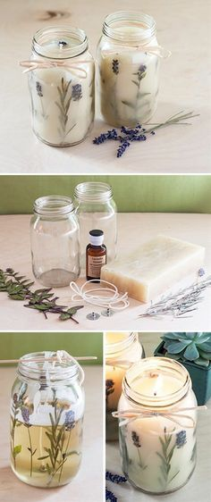 How to make your own wax candles with dry flowers