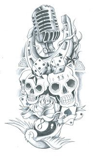 old school tattoo flash.  throw it all in there