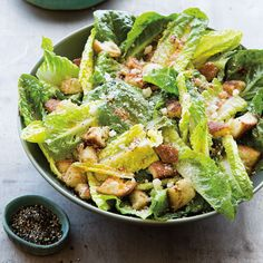 In this spicy riff on the traditional Caesar salad, you cancontrol the amount of heat you want by adding more or less of the chipotle chile.