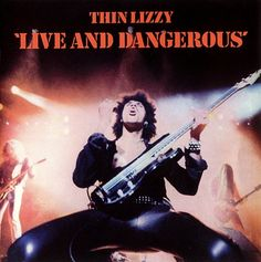 Thin Lizzy Live and Dangerous Vinyl Record 1978 Warner Bros Psych Hard Rock Heavy Metal by vintagebaronrecords on Etsy Greatest Album Covers, Rock Album Covers, Classic Album Covers, Thin Lizzy, Best Classic Rock, Classic Rock Albums, Black Sabbath, Iron Maiden, Lps