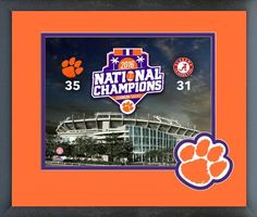 Clemson Tigers 2016 National Champions Stadium 11 x 14 Matted/Framed Photo