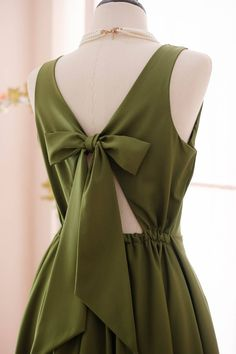 Moss Green Dress Green Bridesmaid dress Prom dress Lolita Wedding Party dress Bridal party Cocktail Formal bow back evening dress Stylish Kurtis Design, Dusty Pink Bridesmaid Dresses, Modern Hijab Fashion, Cute Skirt Outfits, Bridal Party Dresses, Fashion Photography Inspiration, Simple Dresses, Green Dress, Blouse Designs