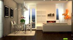 Render fotorealistico di uno spazio living
