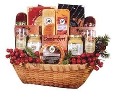 Northwoods Bounty Cheese Gift Basket - This eye-popping Holiday Cheese Gift basket is sure to please any company or office this holiday season. Cheese Gift Baskets, Cheese Gifts, Cheese Food, Holiday Wishes, Holiday Gifts, Christmas Gifts, Willow Wood, Holiday Gift Baskets, Chocolate Coating