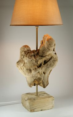 BEAUTIFUL! Luxurious Wooden Lamp, Driftwood Lamp, Natural Wooden Sculpture Lamp, Handmade Lamp. $190.00, via Etsy.