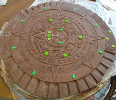 Chocolate Aztec calendar for the Department of Anthropology at the National Museum of Natural History holiday party