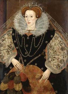 Queen Elizabeth I with a Fan, c.1595.  Artist Unknown.  Private Collection.