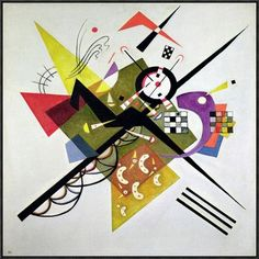 "Global Gallery 'On White II' by Wassily Kandinsky Framed Painting Print on Canvas Size: 36"" H x 36"" W x 1.5"" D"