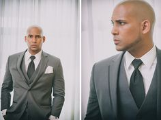 stylish groom in grey, photo by peachykeenphotography.com