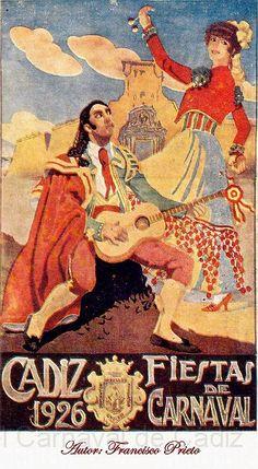 Cartel Carnaval de Cadiz año 1926