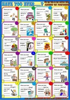 Have you ever: present perfect practice and pair work worksheet - Free ESL printable worksheets made by teachers