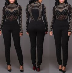 22.99$  Watch here - http://vietp.justgood.pw/vig/item.php?t=fhvr3c35137 - NEW Plus Size Sexy Women Long Sleeve Bodycon Jumpsuit Rompers Trousers Playsuit