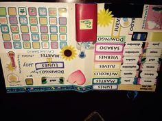 Montessori calendario del mese con meteo ecc