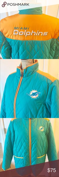 23c975e9c NWT Miami Dolphins Jacket Size XL NWT NFL Team Apparel Miami Dolphins Game  Day Jacket -