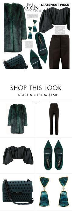 """""""Statement coats"""" by redgreenblue ❤ liked on Polyvore featuring Dries Van Noten, Maison Margiela, E L L E R Y, Foley + Corinna, Valentin Magro, Nicole, coats, winterfashion, winterwear and winterstyle"""