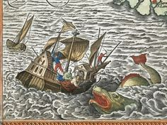 JONAH BEING CAST overboard to a sea monster in Abraham Ortelius's Theatrum orbis terrarum (Theater of the World) of 1595. (British Library) Hunting Giant Octopuses, Flying Turtles, and Other Ancient Sea Monsters | WIRED