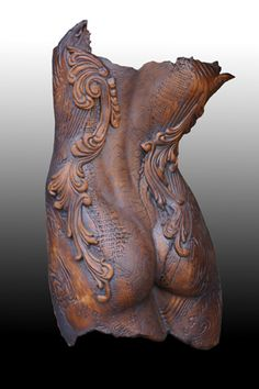 """spiral Torso Back' - Design by Lynette Power, Rivertown Pottern"