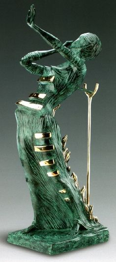 Woman in a flame. Salvador Dali bronze sculpture