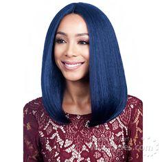 Bobbi Boss Human Hair Blend Swiss Lace Front Wig - MBLF90 JUBA (4inch Deep Part) [13726]