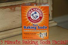 5 Minute Baking Soda Facial (like a microdermabrasion...SO good!!!)