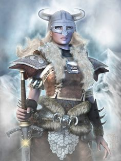 A Dragonborn, transliterated to Dovahkiin in the Dragon language, is a rare individual who has been born with the blood and soul of a Dragon, but the body of a mortal, and can naturally learn and s. Viking Life, Viking Warrior, Warrior Women, Female Character Concept, Character Art, Dungeons And Dragons, Skyrim Cosplay, Skyrim Costume, Viking Costume