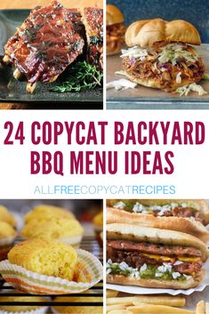 Looking for a little summer menu inspiration? Look no further than these 24 Copycat Backyard BBQ Menu Ideas! Our best summertime favorites are finally all in one place. Best Bbq Recipes, Fruit Recipes, Copycat Recipes, Summer Recipes, Cooking Recipes, Bbq Menu, Food Menu, Cracker Barrel Recipes, Backyard Bbq