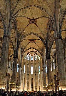 Santa Maria del Mar, Barcelona. Catalonia  This construction is related to the Fabulous Book. La Catedral del Mar.