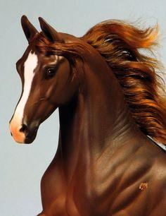 Sarah Rose/Rose Studios Khemosabi Arabian horse resin haired and painted by Carol Williams  www.riorondo.com www.rosehorse.com