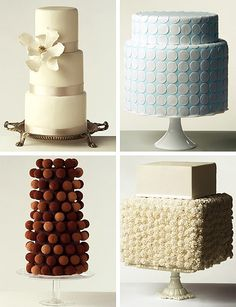 Modern-Wedding-Cakes_ i like the chocolate truffle ball cake. I would pluck one off and say don't mind if i do!