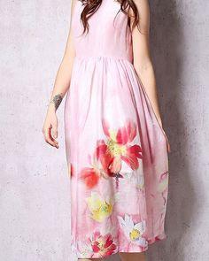 Shalena Pink Floral Silk Dress  https://shalena.ca  #women #fashion #onlineshopping #dresses #shoes #coat #love #life #american #canadian #australia #newzealand #uk #england #france #germany #spain  #latestfashion #beautiful #happy #pretty #colorful #sweet #bestquality #shopping #womenfashion  #followforfollow #follow4follow #f4f #ifollowbackalways