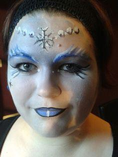 Snow queen face paint