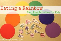 Eating a Rainbow. Two fun ideas for kids inspired by Lili's Strawberry House by @Sahar Berjis Do you have any fun ways that you get your kids to eat healthier?