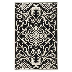 Safavieh Soho Black / Ivory Rug. Wool.